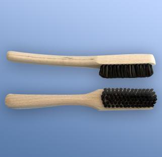 børste sett fra siden og over