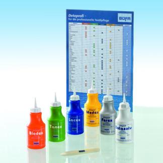 Flasker med produkter